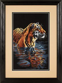 Large - Tiger Chilling Out #35222 - Cross Stitch Kit