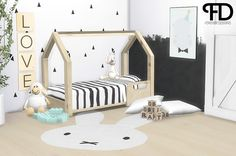 "foreverdesigns: "" Jace kidsroom - Toddler Bed OMG! Toddlers came out! ♥ ♥ I always wanted toddlers! Well I was doing a WIP when this update came out and it was something with kids and stuff, so I wanted to made a small toddler item that fits the..."