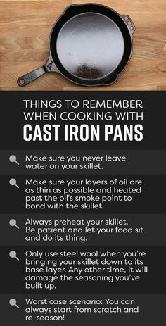 And that's it! Just follow these simple rules and these pans will last you a lifetime. | Everything You Need To Know About Cooking With Cast-Iron Pans