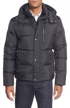 Cole Haan Quilted Jacket with Removable Hood available at #Nordstrom