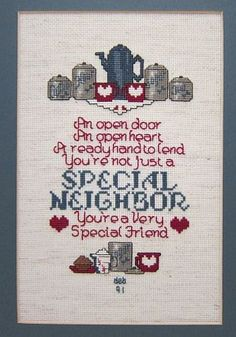Framed Special Neighbor Special Friend by DonnasVintageStuff