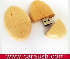 Goose eggs shape wood usb flash memory oval design maple flash drives 8GB www.carausb.com