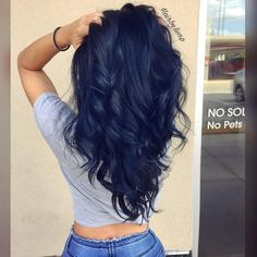 """12.8k Likes, 126 Comments - Hairbesties Community (@guytang_mydentity) on Instagram: """"#Hairbestie @hair.by.lisa.p Navy feels with this Midnight blue using @guy_tang #Mydentity 1MB &…"""""""