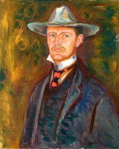 Self-Portrait in Broad Brimmed Hat Edvard Munch - 1905-1906