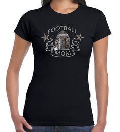 U.S. Custom Tees - Football Mom Sequin T-Shirt, $14.99…