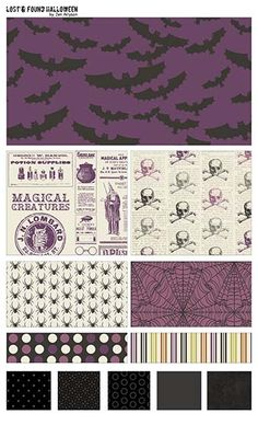Lost & Found Halloween  fabric line by Jen Allyson from My Mind's Eye for Riley Blake Designs #iloverileyblake #fabricismyfun