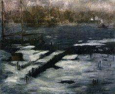 The North River, New York, George Luks