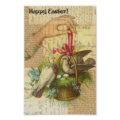 Birds in a Basket, Easter Poster