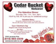 Cedar Bucket Restaurant - DNJ 2-Feb 2012.