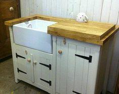 Freestanding Kitchen Sink Cupboard | Etsy Kitchen Sink Units, Belfast Sink, Freestanding Kitchen, Cupboard, Slate, Storage, Etsy, Furniture, Design