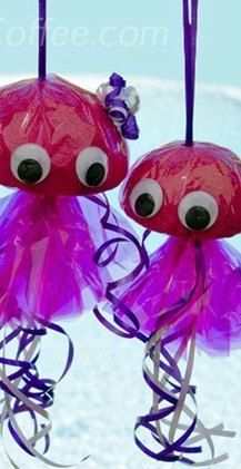 Jelly fish Crafts For Kids /craftsncoffee