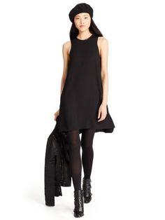 Leather-Trim Shift Dress - Polo Ralph Lauren Short Dresses - RalphLauren.com
