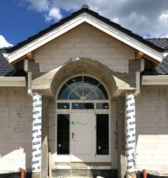 Realizacja drzwi zewnętrzne do projektu Willa Parkowa, drzwi wejściowe Parkowa białe