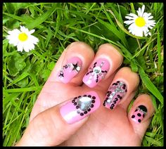 """Rhinestone Nail Art by """"Lorena Style"""""""