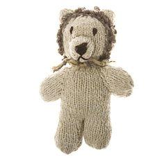 Knitted Lion Dog Toy - Mungo & Maud