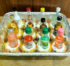 great gift idea: airplane bottle cupcakes!  #21 #birthday