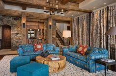 Modern Tree Log Table In Living Room | The Best Wood Furniture