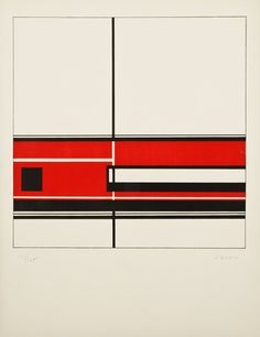 Jean Gorin // c. 1970 // Untitled Screenprint printed on Arches in an edition of 175. Gorin was a devout practitioner of Neoplasticism, member of the Association Abstraction-Création, and close acquaintance to both Mondrian and van Doesburg.