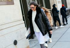 Outerwear inspiration from #NYFW (via curalist.co)