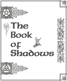 Book Shadows title pages | Book of Shadows cover page 2 by ~Sandgroan on deviantART