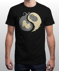 """Kit and Pup"" is today's £9/€11/$12 tee for 24 hours only on www.Qwertee.com Pin this for a chance to win a FREE TEE this weekend. Follow us on pinterest.com/qwertee for a second! Thanks:)"