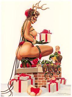 art Christmas erotic