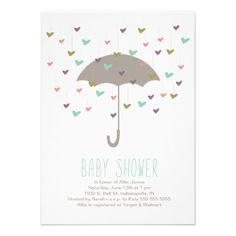 Umbrella Baby Shower Invitation
