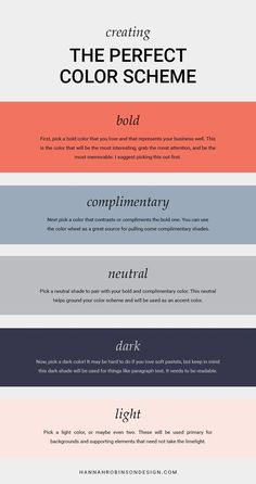 How to Create The Perfect Color Scheme - OR I could just gank this one.