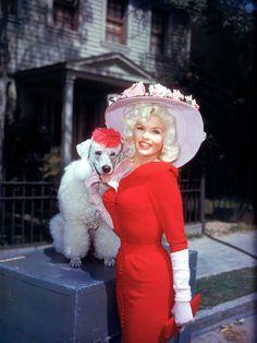 Jayne Mansfield.  Love her doggie's hat!