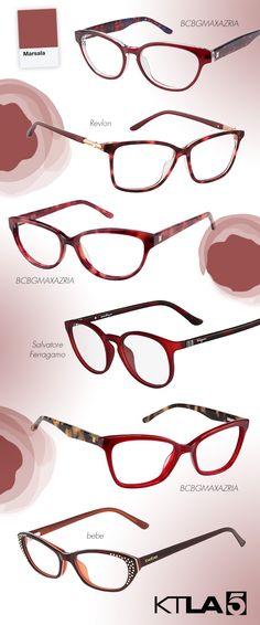 Marsala-Hued Specs + Shades Spotted on KTLA: http://eyecessorizeblog.com/2015/01/marsala-hued-specs-shades-spotted-ktla/