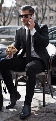 Dashing Business man look in Black Suit