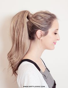 Done!  The perfect ponytail hair extensions! Full tutorial for this look can be found here... It looks a bit like a 90's ponytail.. what do you think?