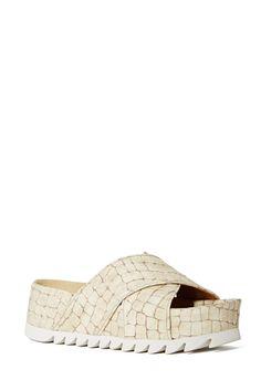 Jeffrey Campbell Menorca Platform Sandal - Ivory Croc | Shop Platforms at Nasty Gal