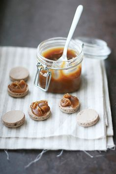 Chocolate  Salted Butter Macarons via Call me Cupcake #recipe