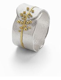 Another pretty ring by Hannah Bedford - gold & silver granulated ring