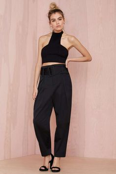Nasty Gal Collection Rapture High-Waisted Trouser | Shop What's New at Nasty Gal