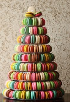 Macaroon tower as alternative #wedding cake?