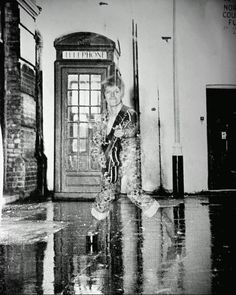 1972 - David Bowie by Brian Ward, The Rise and Fall of Ziggy Stardust photo shoot.