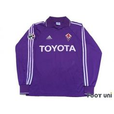 Photo1: Fiorentina 2004-2005 Home L/S Shirt #11 Miccoli Lega Calcio Serie A Patch/Badge adidas - Autographed Shirt - Football Shirts,Soccer Jerseys,Vintage Classic Retro - Online Store From Footuni Japan