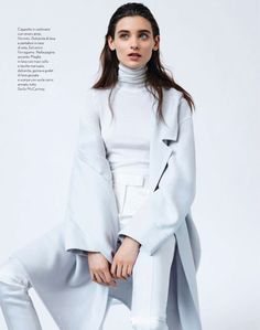 winter whites - visual optimism; fashion editorials, shows, campaigns & more!: white: carolina thaler by laurence ellis for amica september 2013
