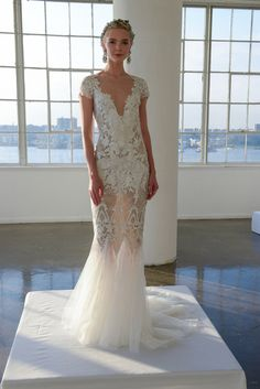 This completely sexy frock from Marchesa. | 17 Simply Stunning Sheer Wedding Dresses
