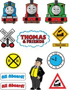 Free Printable Thomas the Tank Engine and Friends Stickers