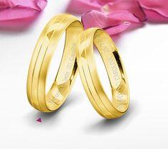 Alianzas de oro amarillo con grabado. Bangles, Bracelets, Wedding Rings, Engagement Rings, Jewelry, Fashion, Minimalist Wedding, Wedding Band Rings, Gold