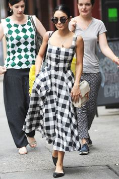 vanessa hudgens style best outfits - Page 93 of 100 - Celebrity Style and Fashion Trends Estilo Vanessa Hudgens, Vanessa Hudgens Style, Vanessa Hudgens Dress, Gingham Dress, Plaid Dress, Nice Dresses, Casual Dresses, Summer Outfits, Summer Dresses
