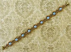 "LACE FLOWERS VARIATION 11/0 seed beads Miyuki ""Dark Bronze"" (457D) 8/0 seed beads Miyuki ""Dark Bronze"" (457D) 6mm rondelles ""Lilac Ma..."