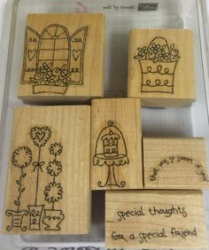 Stampin'UP stamp set Sweet of you by PixieStamper on Etsy Craft Supplies, Stampin Up, Unique Jewelry, Handmade Gifts, Stamp Sets, Sweet, Projects, Stuff To Buy, Etsy