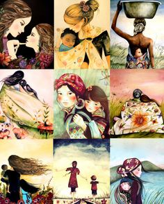 mothers of the world art print by claudiatremblay Claudia  Tremblay