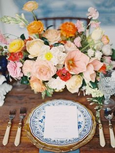 Photography: Kurt Boomer | Venue: Rancho Las Lomas | Event Design: Smith + James Events | Floral Design: Heirloom Design House | Paper Goods: Pitbulls and Posies | Rentals: Adore Folklore | Dining Table: Witty Rentals | Linens: La Tavola