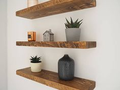 CHUNKY PINE FLOATING SHELVES Made From Rustic Homegrown British Pine We're proud to say that this product is 100% British, grown in the UK and manufactured in our North Yorkshire based workshop! Our rustic floating shelves made from homegrown pine will instantly add that rustic feel