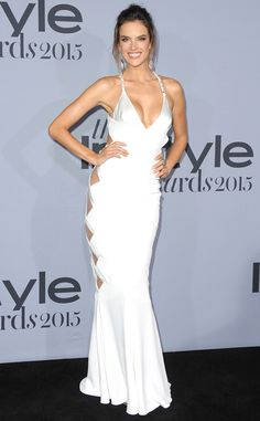 Alessandra Ambrosio from The Best of the Red Carpet  In a risky side cutout, Alessandra strikes a pose in a white satin Alexandre Vaulthier gown.